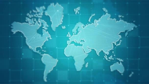 World map digital technology concept, Business networking background, Map digital tech presentation.