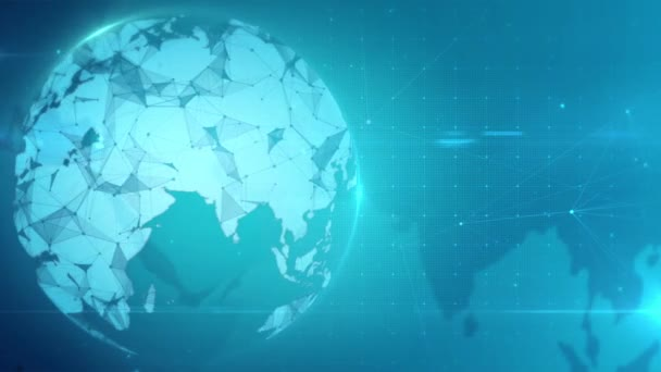 Digital network background, Business technology presentation concept, Information world map.