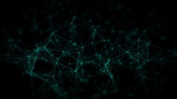 Abstrakter Netzwerkhintergrund, Digital Business Technology Konzept, Linienpunkte-Präsentation.