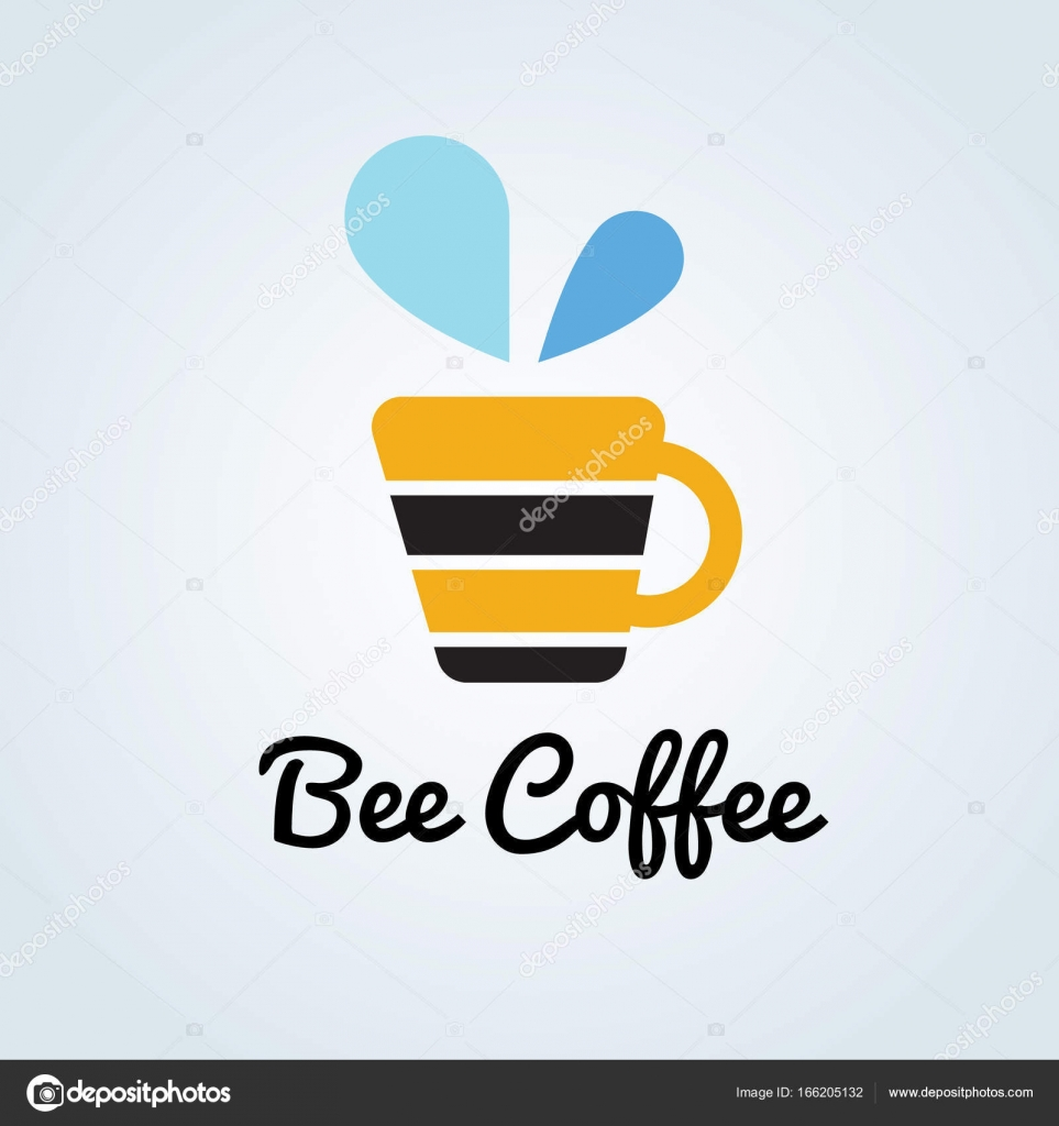 bee coffee logo template stock vector jacktha 166205132