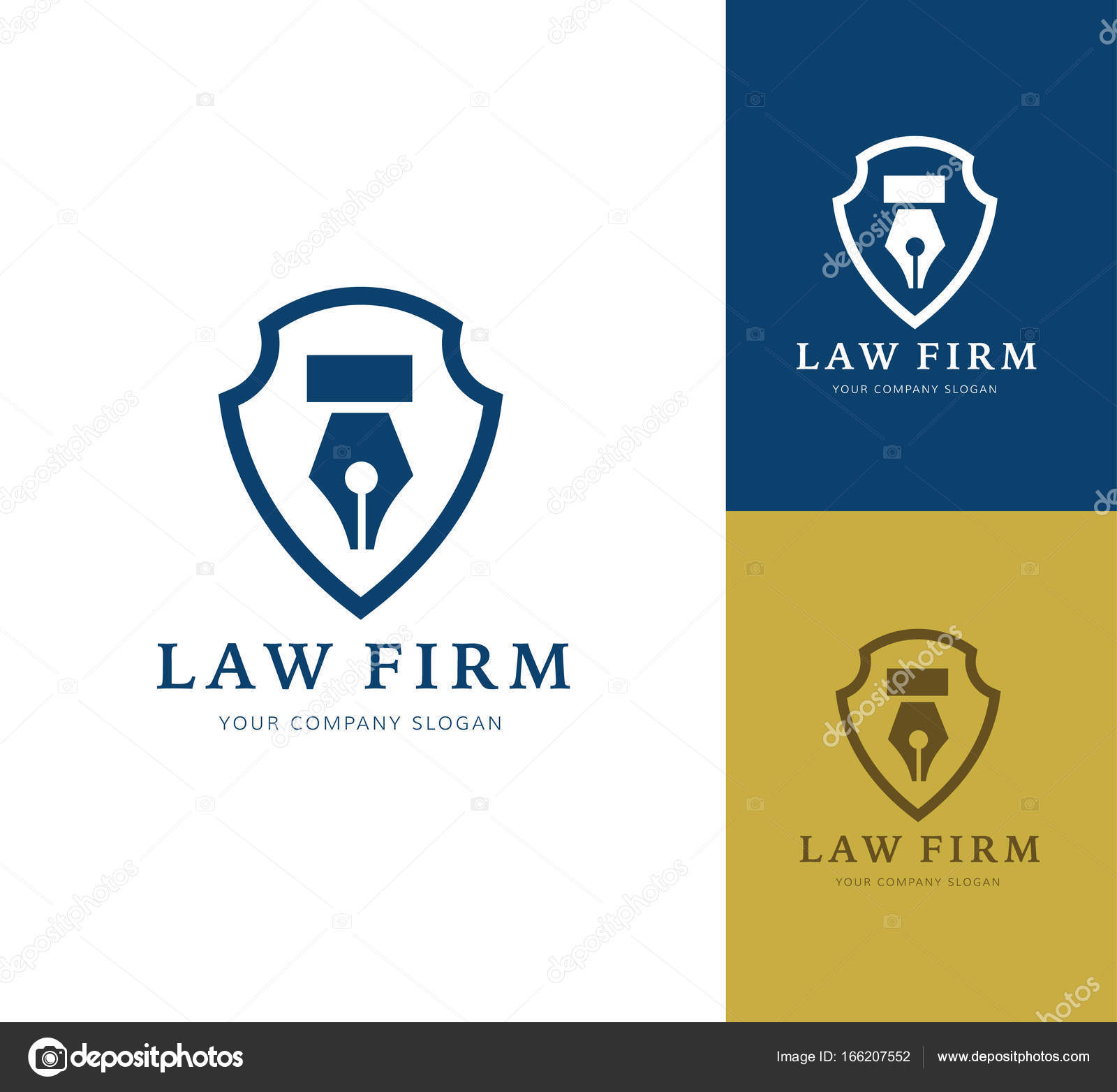 Law Firm Logo Icon Vector Design Legal Lawyer Scale Vector Logo