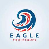 Adler-Logo, Vogel-Logo-Set, Falken-Logo, Falken-Logo, Vektor-Logo-Vorlage