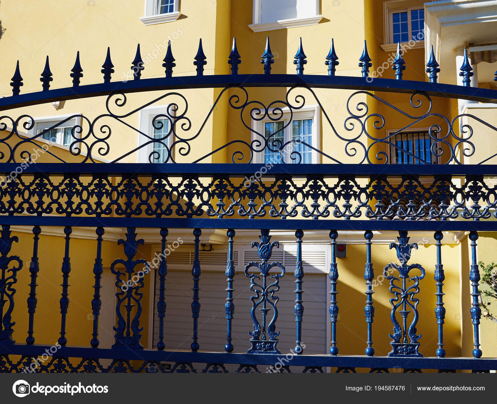 ornate wrought iron gate cheap details of ornate wrought iron elements metal gate spain stock photo
