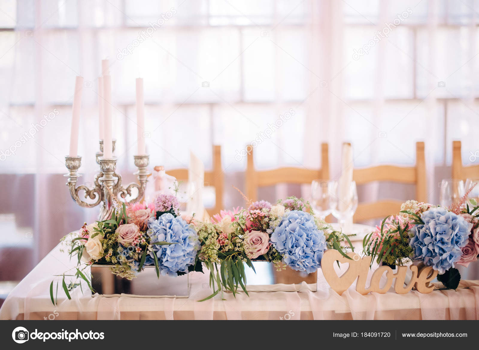 Light Blue And Pink Wedding Theme Wedding Decor With