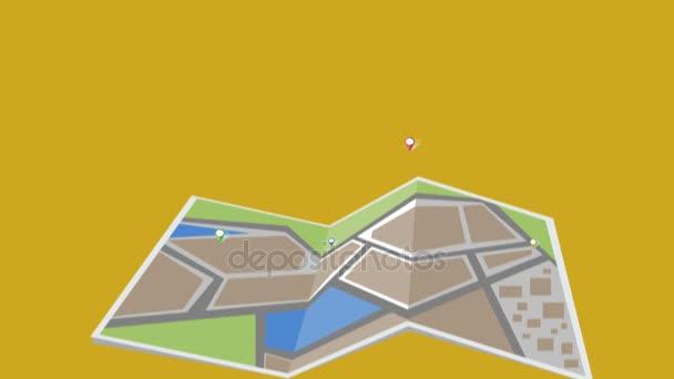 City map animation 4K