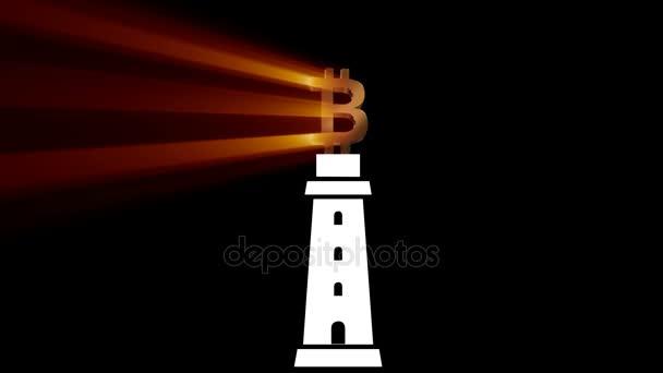 Bitcoin Kryptowährung.animation bitcoin.btc virtuelle Währung.