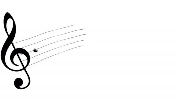 Zenei jegyzetek. Hangjegy. Háttér, a látvány vagy mozgás. Alfa-Matt. 4k