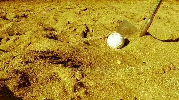 Golfové hráče kuličky v písku