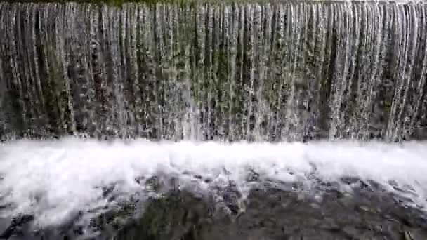 Clean waterfall with foam