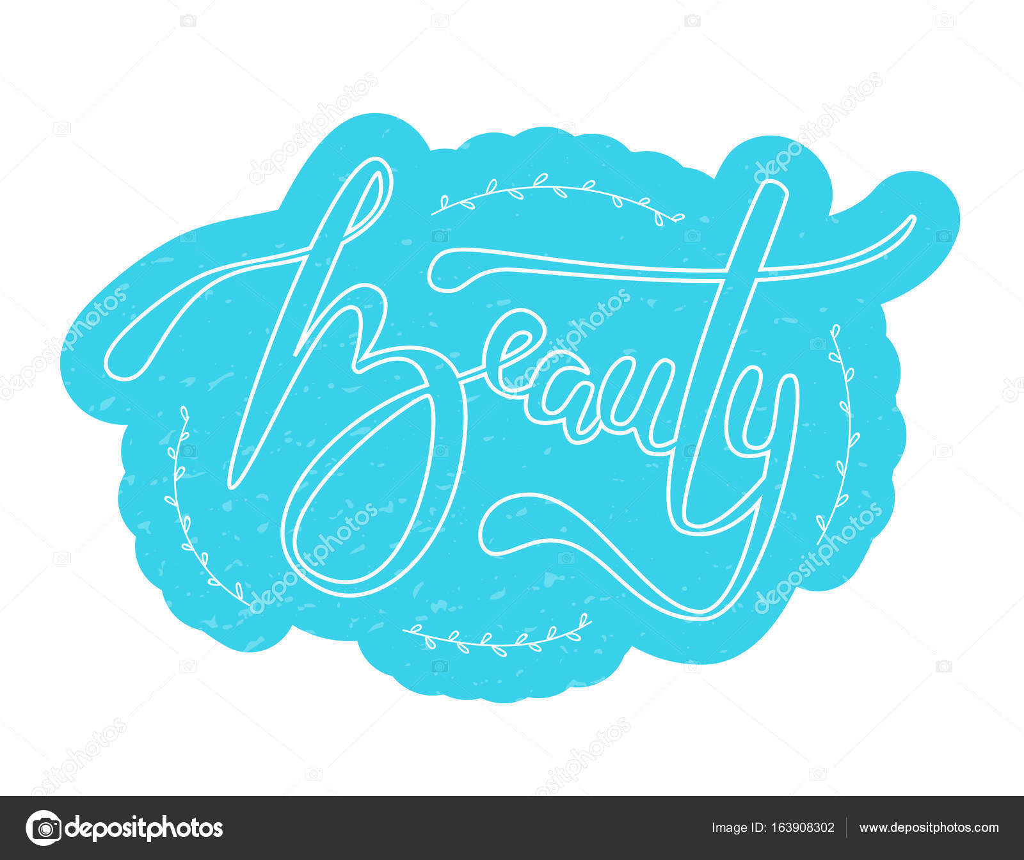 1ed905107b97 Vektorové ilustrace krása textu pro obchod logotyp — Stock Vektor ...