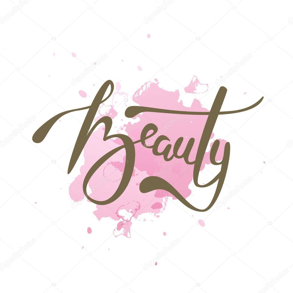 858778dec876 Vektorové ilustrace krása textu pro obchod logotyp — Stock Vektor ©  olechka.kv.gmail.com  163908256