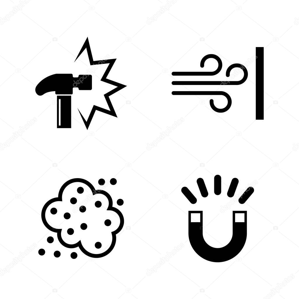 External influence. Simple Related Vector Icons