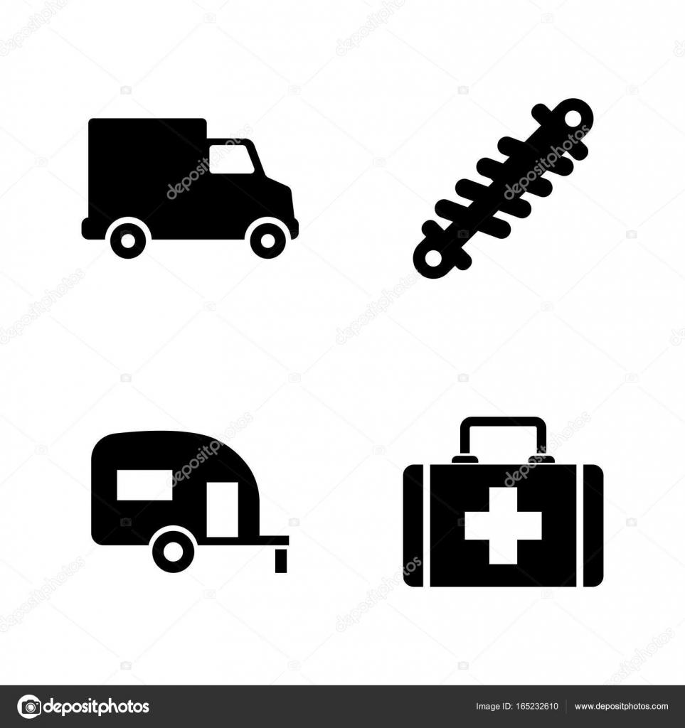 Autoteile. Einfach entsprechenden Vektor-Icons — Stockvektor ...