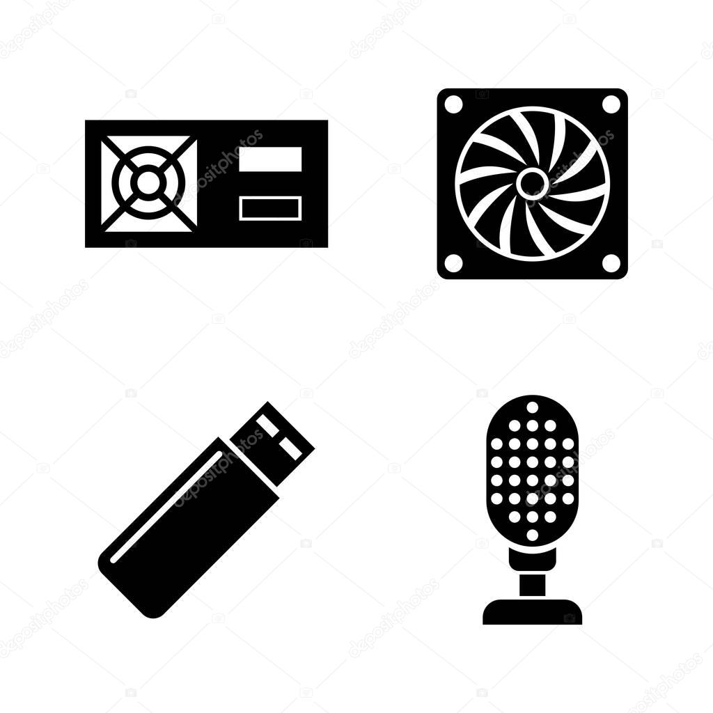 Hardware. Simple Related Vector Icons
