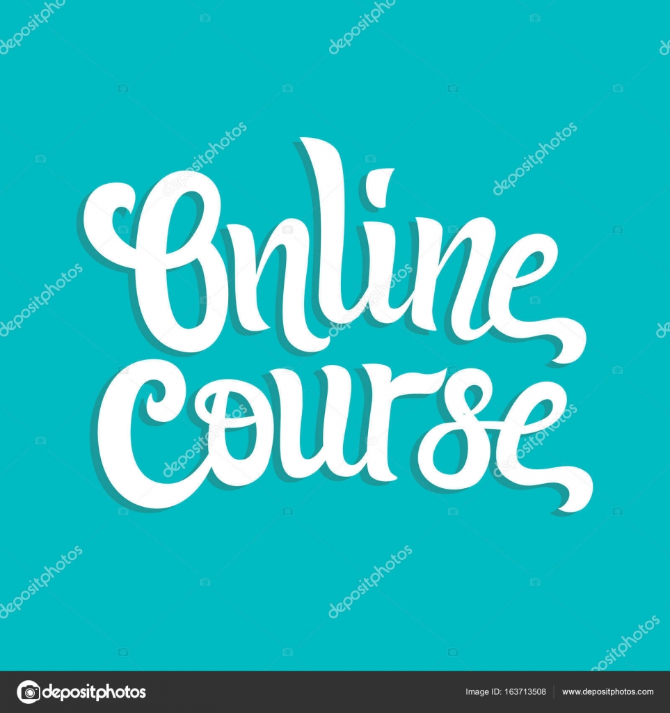 online course vector hand written lettering vector element for design hand drawn lettering composition for logo label emblems banner and icons