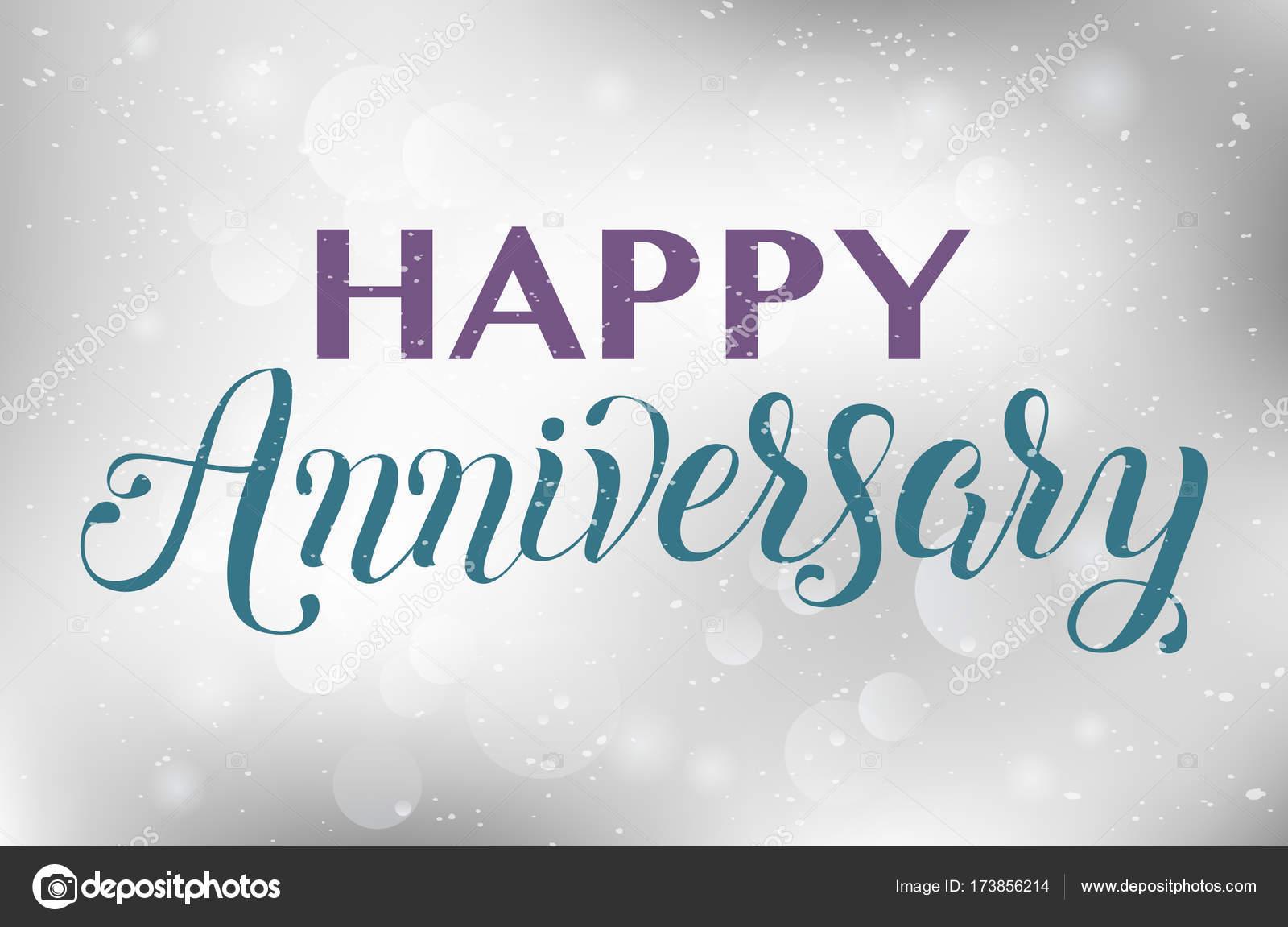 Happy anniversary hand lettering u stock vector tiny selena