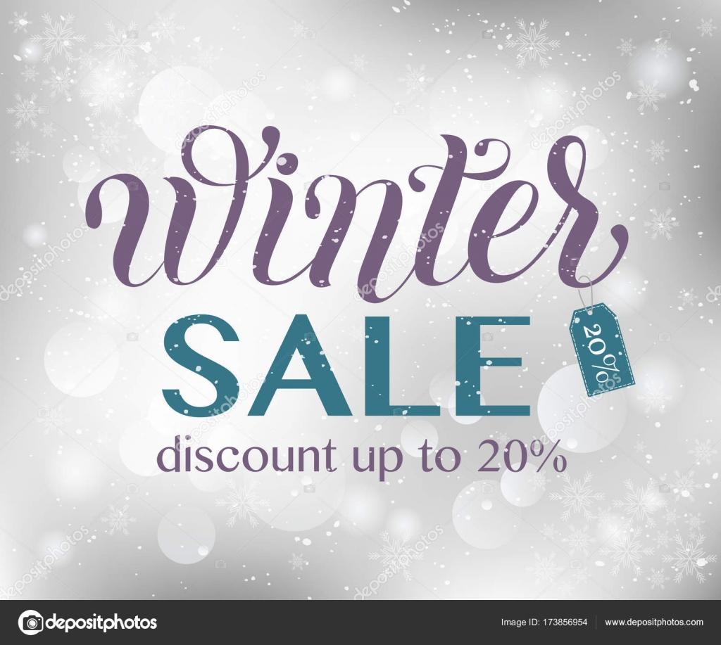 Winter Sale Typografie Vorlage auf Textur Hintergrund — Stockvektor ...