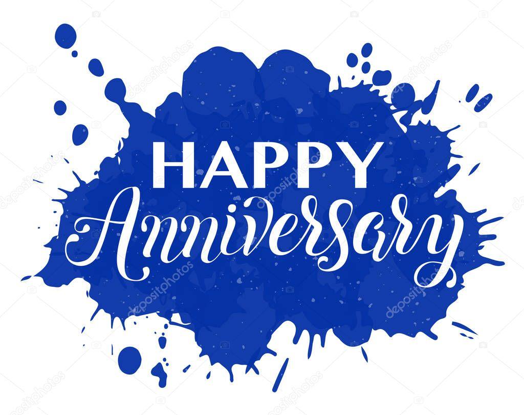 Happy Anniversary Hand Lettering