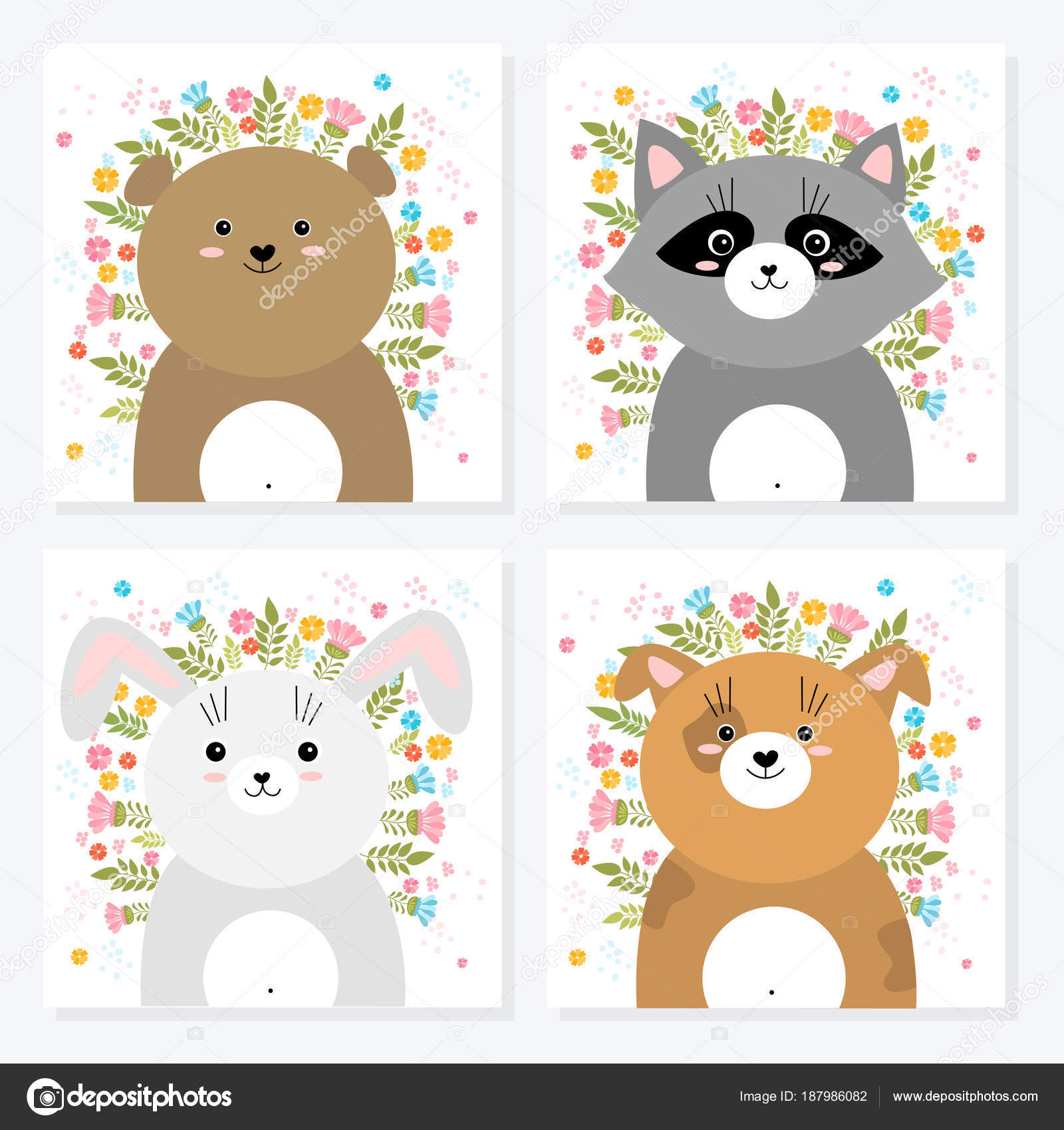 Dibujos Infantiles De Animales De Primavera Ilustración De