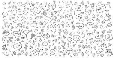 Vector hand drawn doodle set