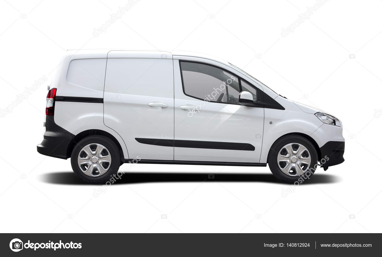 new ford transit courier side view isolated stock. Black Bedroom Furniture Sets. Home Design Ideas