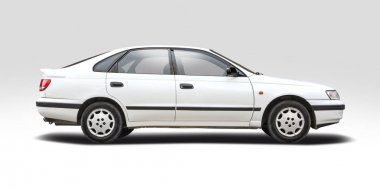 Toyota Carina side view isolated on white