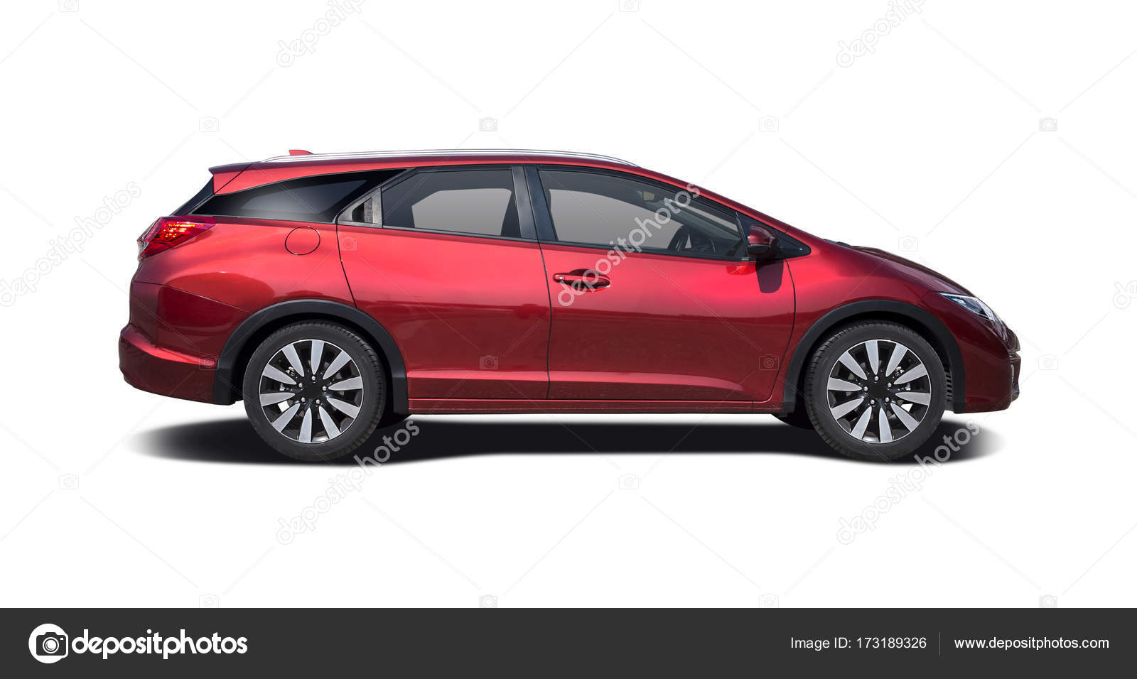 Red Japanese Station Wagon Side View Isolated On White U2014 Photo By Pixellio