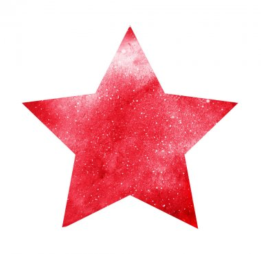 Watercolor star on white stock vector