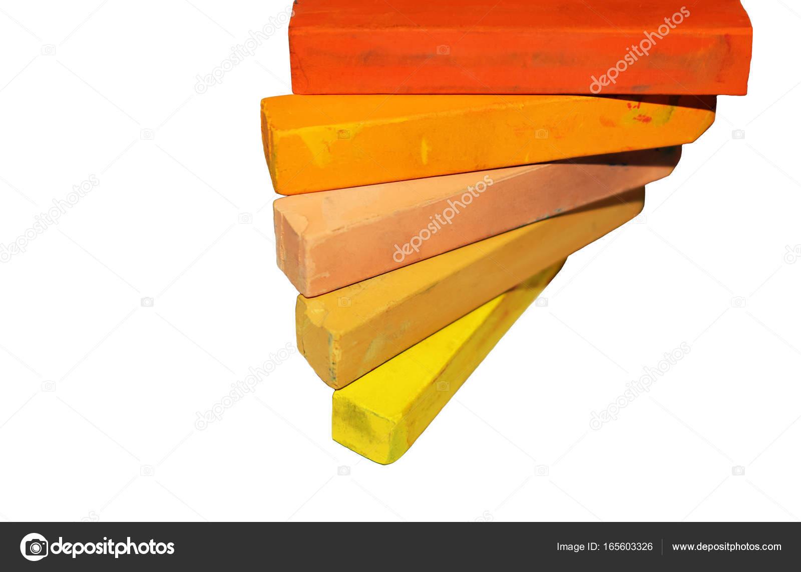 Pastel multicolor. Crayons de couleurs chaudes — Photographie Katya ...