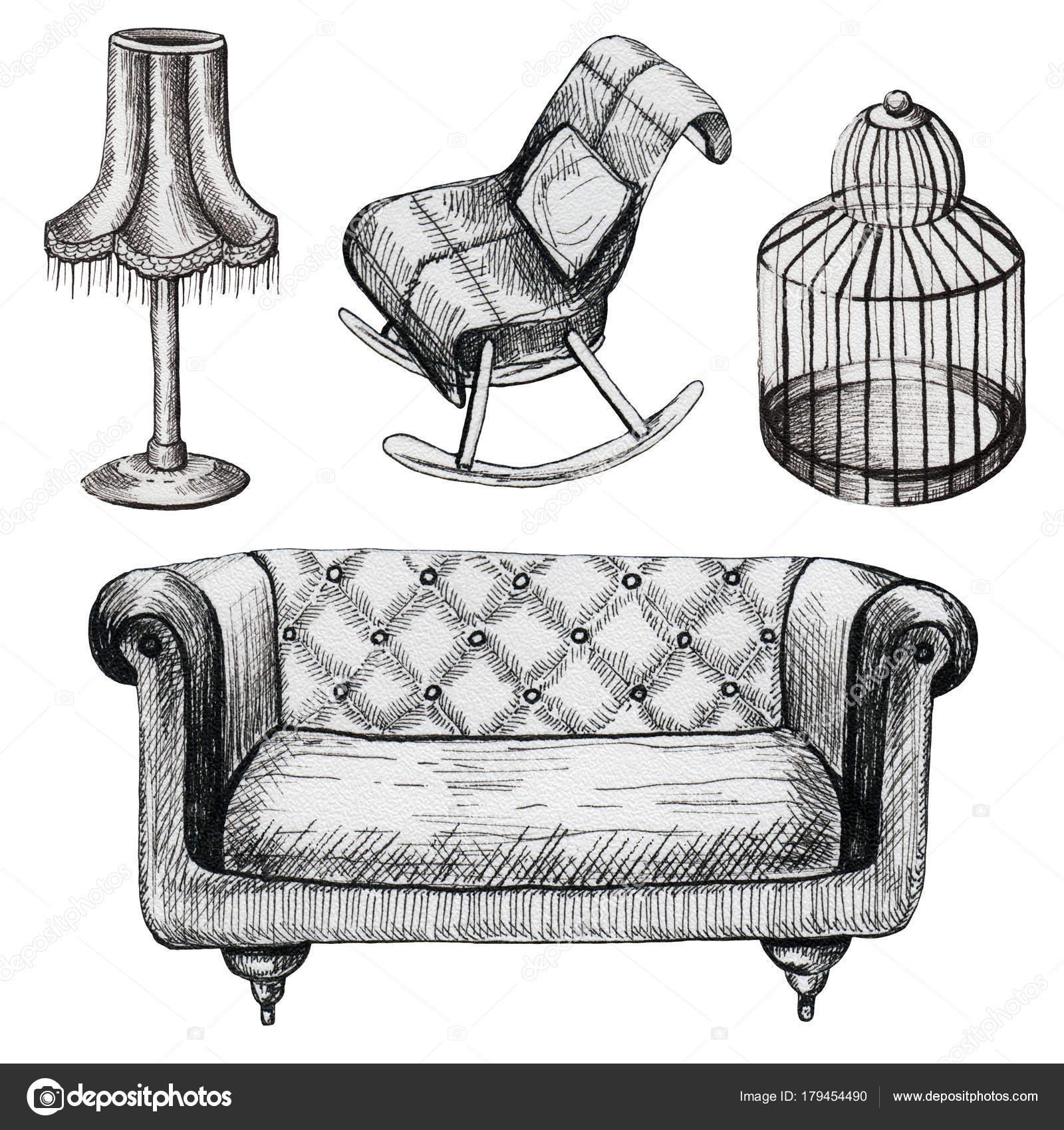 Conjunto de muebles de gráfico — Foto de stock © mimomy #179454490