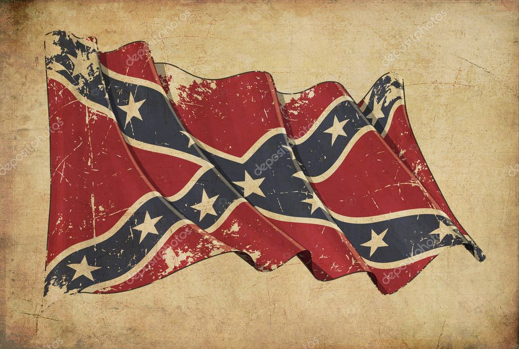 Confederate Rebel Grunge Flag Textured Background Wallpaper Stock Photo