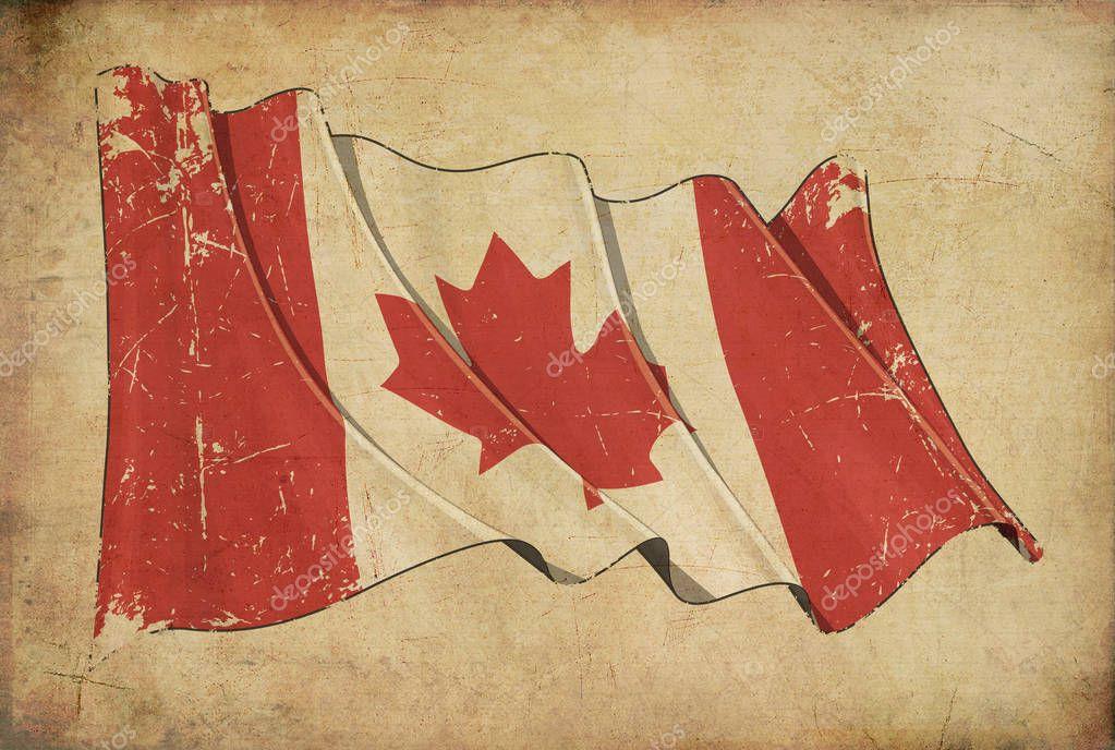Background Canada Flag Wallpaper Canadian Grunge Flag