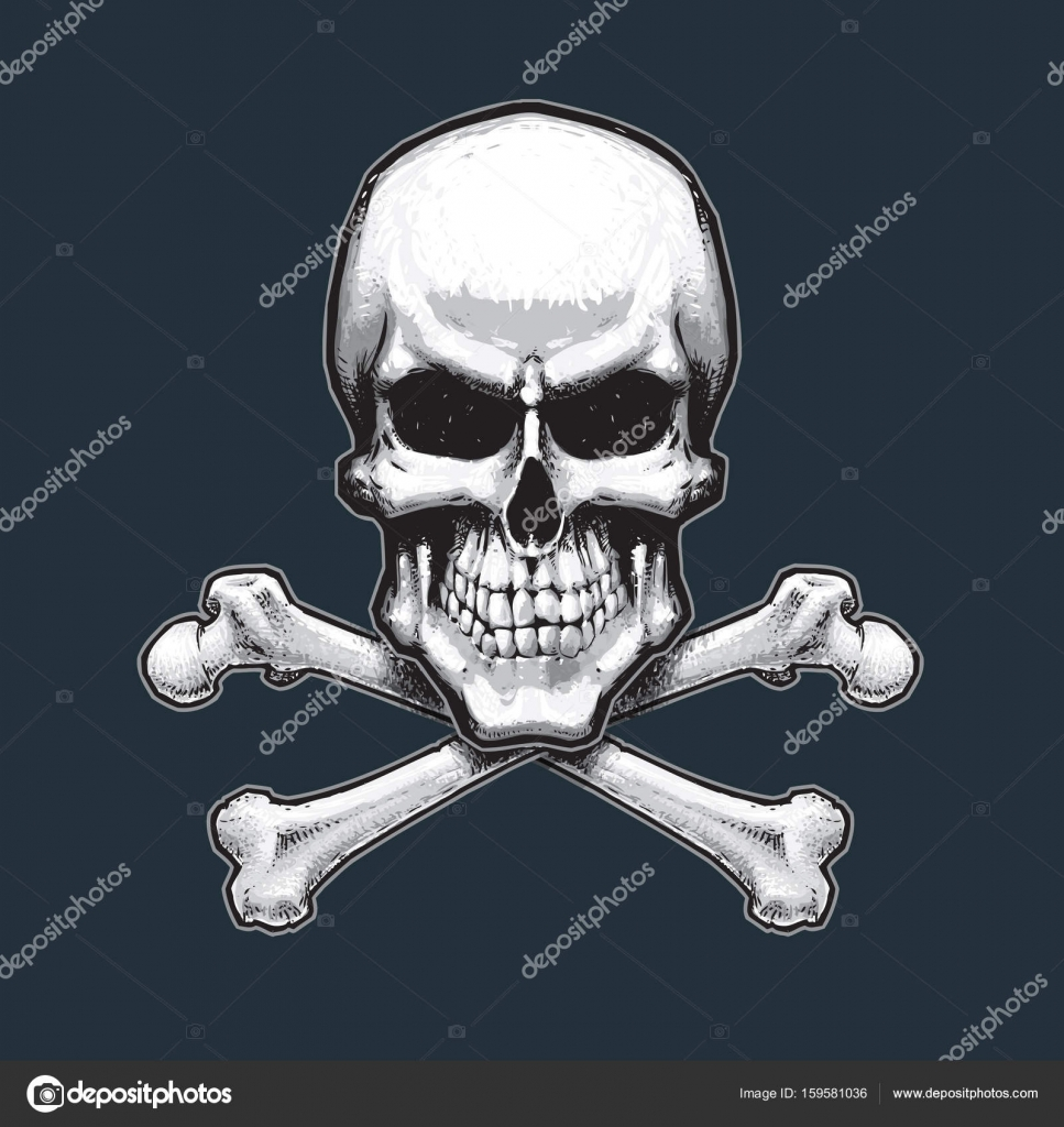 Pirates Skull And Bones Stock Vector Nazlisart 159581036
