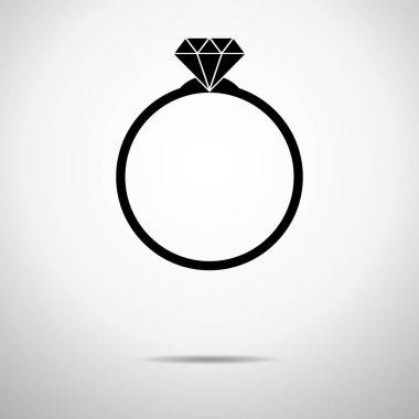 Luxury Diamond Engagement Ring Vector Isolated