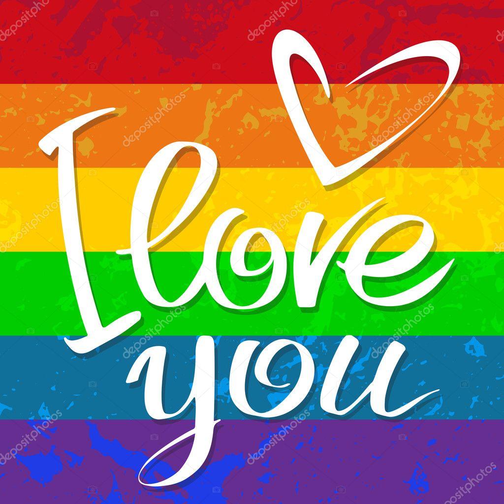 Gay Flag Love Stock Vector Tokhiti 128336650