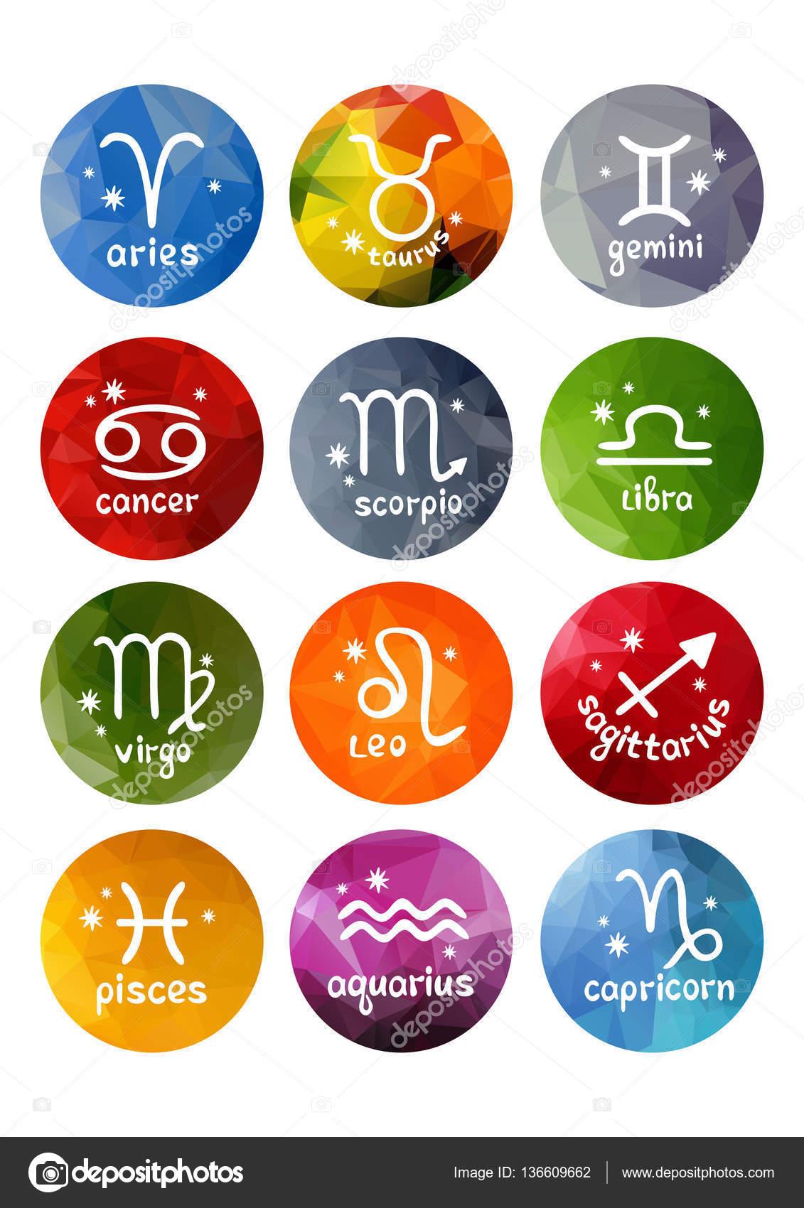 Conjunto de signos del zodiaco archivo im genes - Signos del zodiaco en orden ...