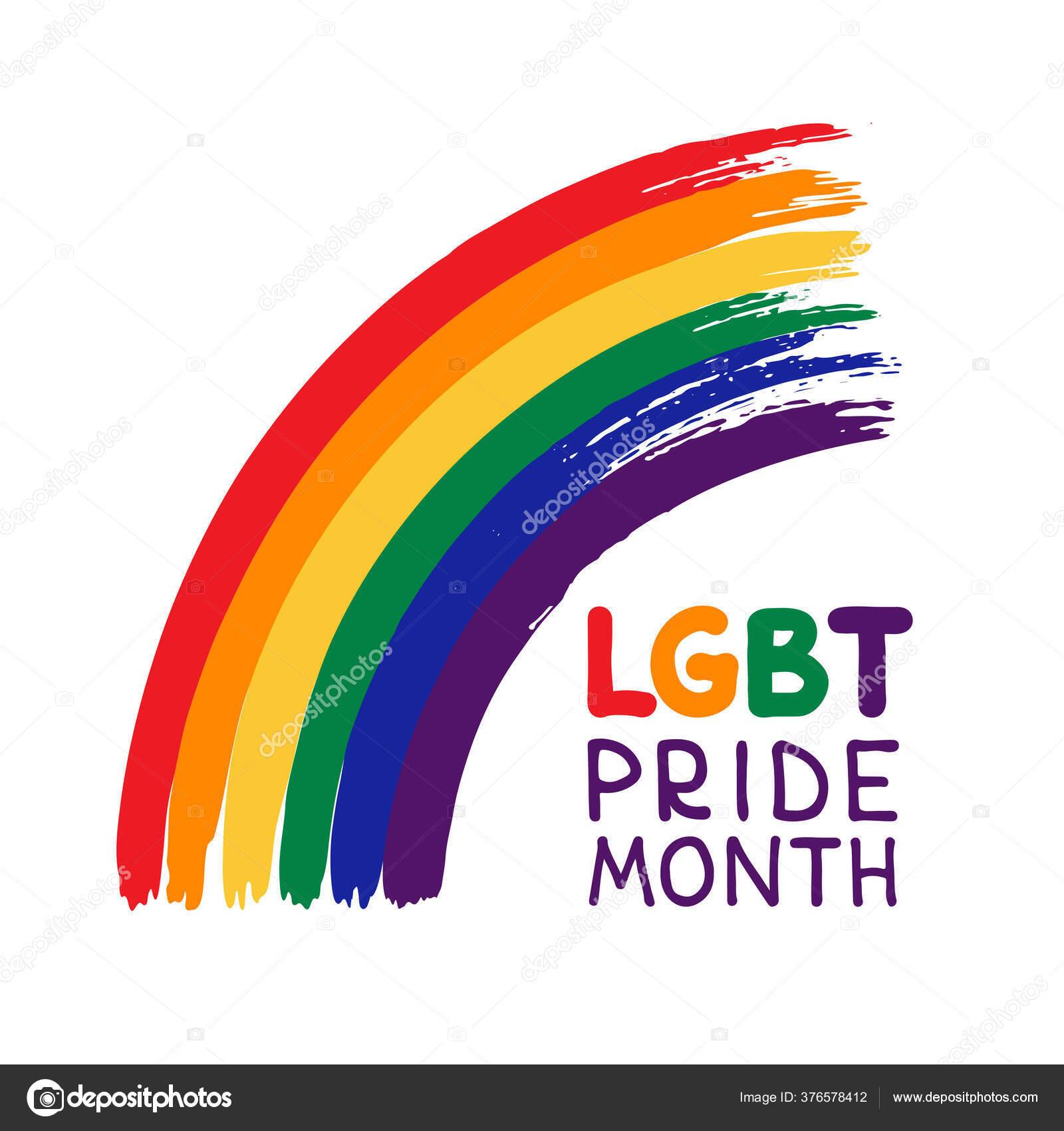 Vector pride frame lgbt symbols love rainbow stock illustration