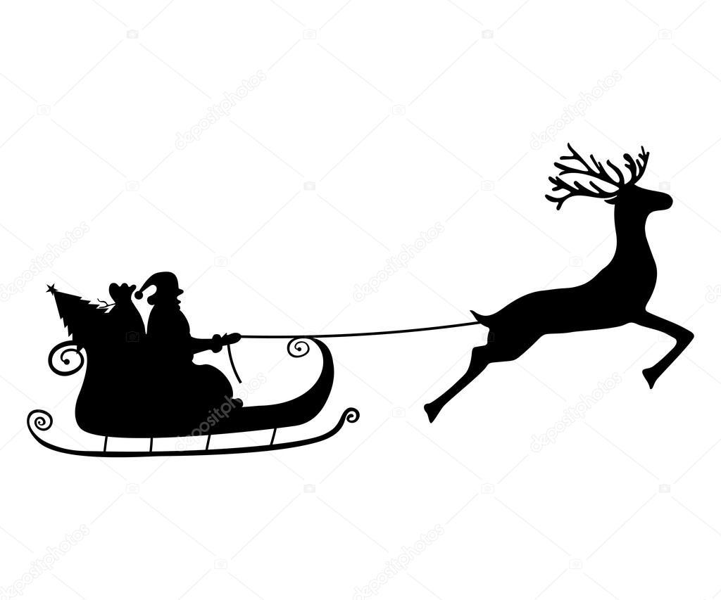 дед мороз на санях с лошадьми картинки силуэт поставлял металл
