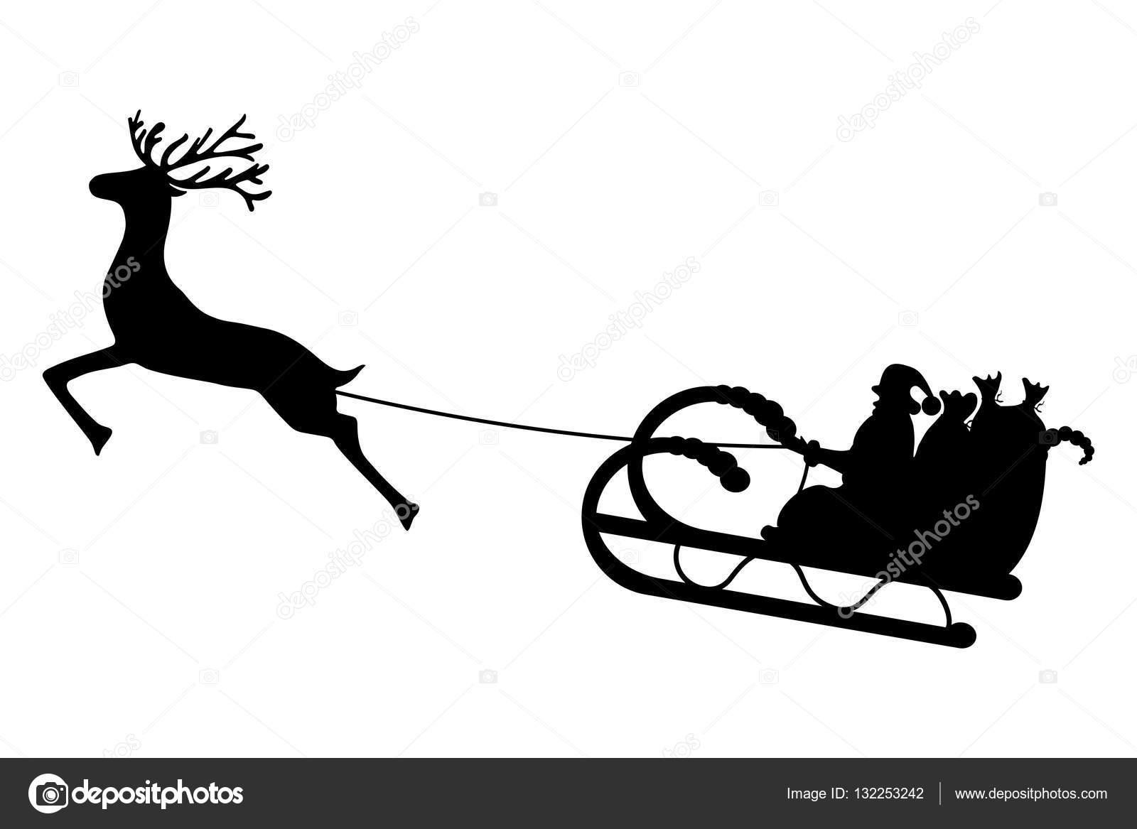 der Weihnachtsmann reitet in einen Schlitten im Kabelbaum auf das ...