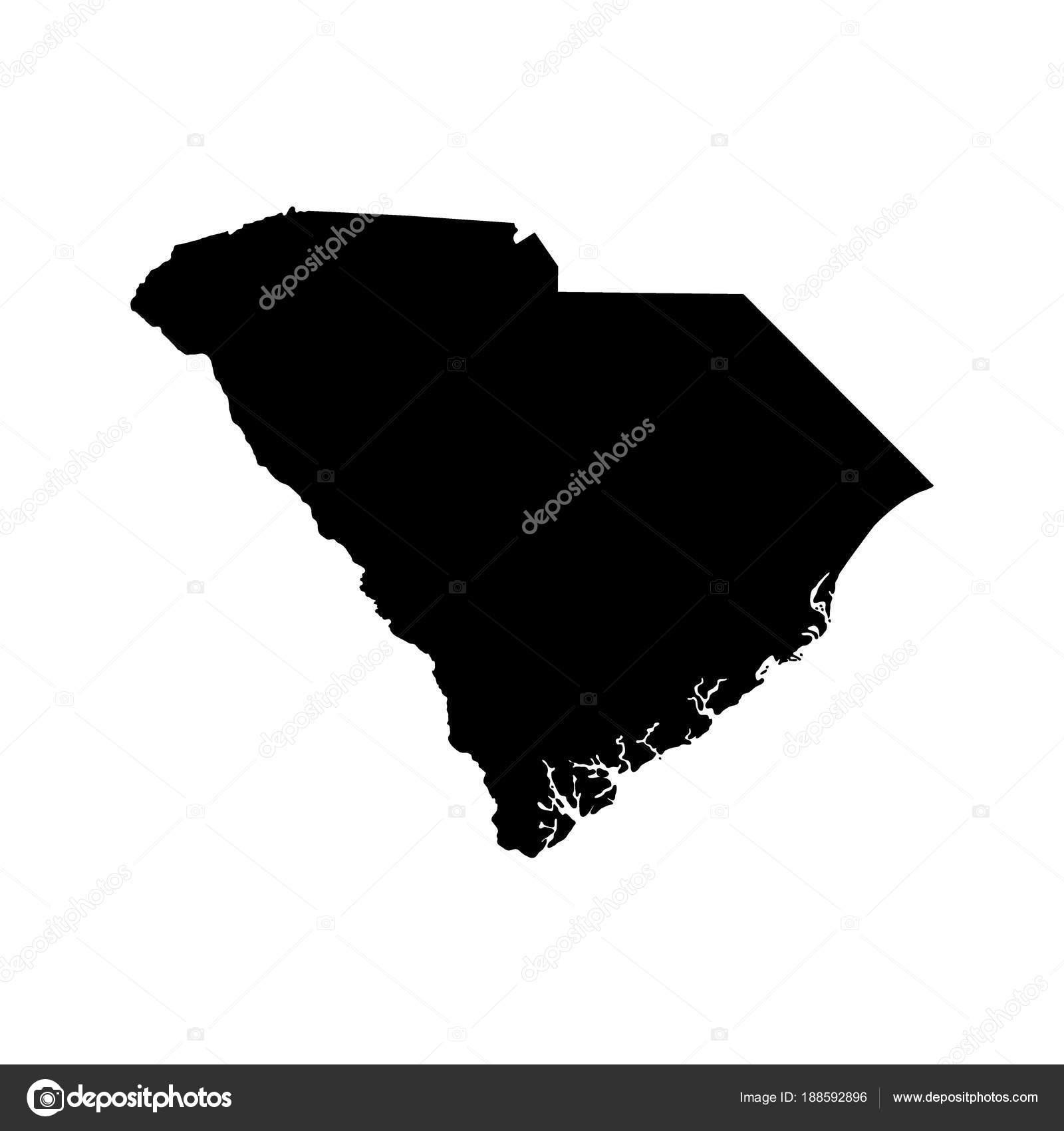 Carolina Us Map.Map Of The U S State Of South Carolina Stock Vector C Pavlentii