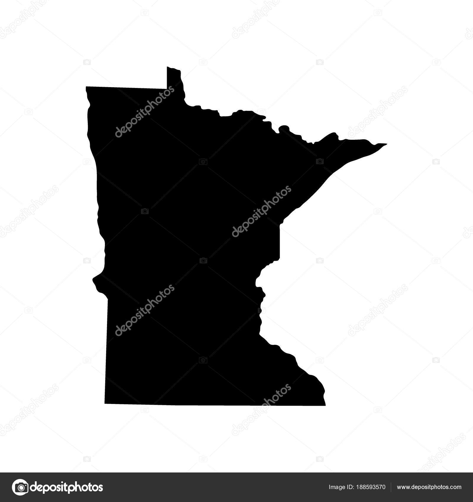 Map Of The U S State Of Minnesota Stock Vector C Pavlentii 188593570