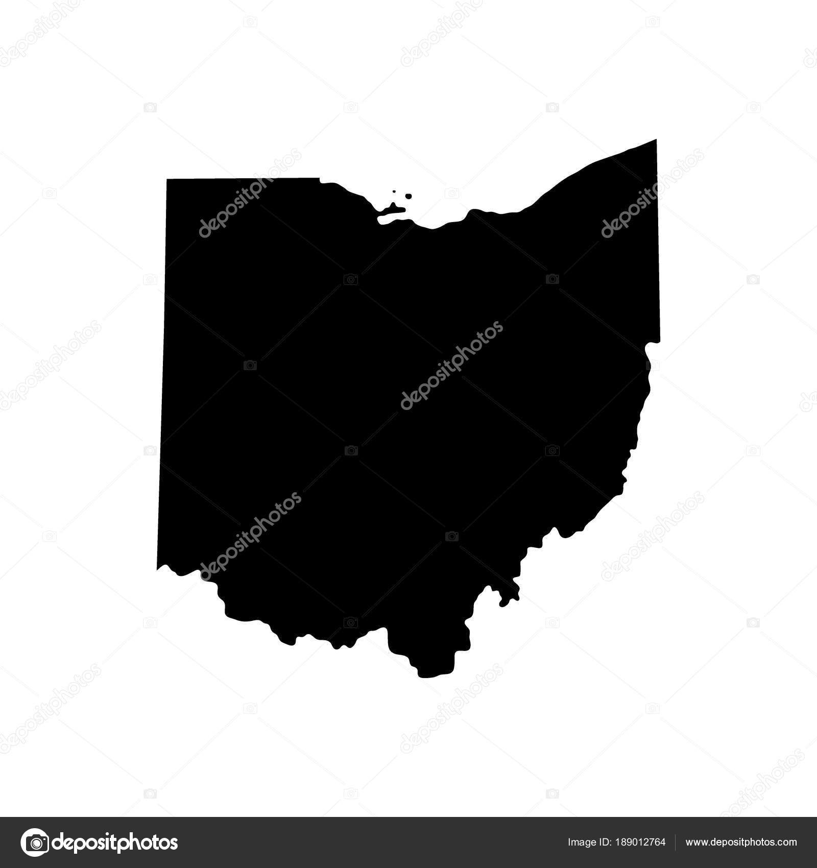 Ohio On State Map.Map Of The U S State Of Ohio Stock Vector C Pavlentii 189012764