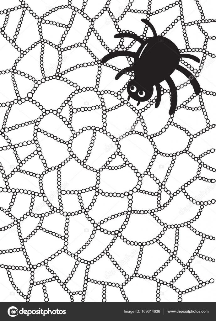 Malvorlagen mit Spinne und web — Stockvektor © fesleen #169614636