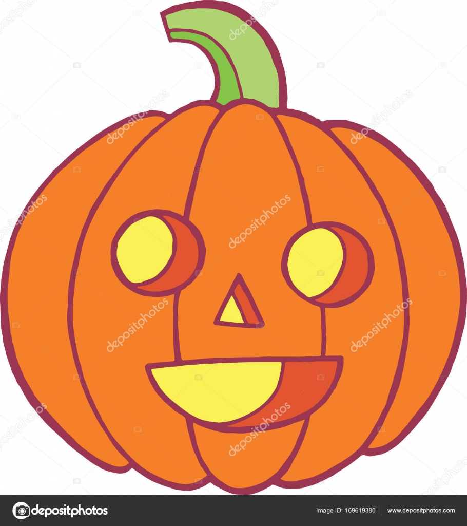 Colorido doodle sketch con calabaza para halloween. Cartoo otoño ...