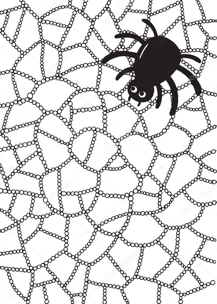 örümcek Ve Web Sayfası Boyama Stok Vektör Fesleen 169614636