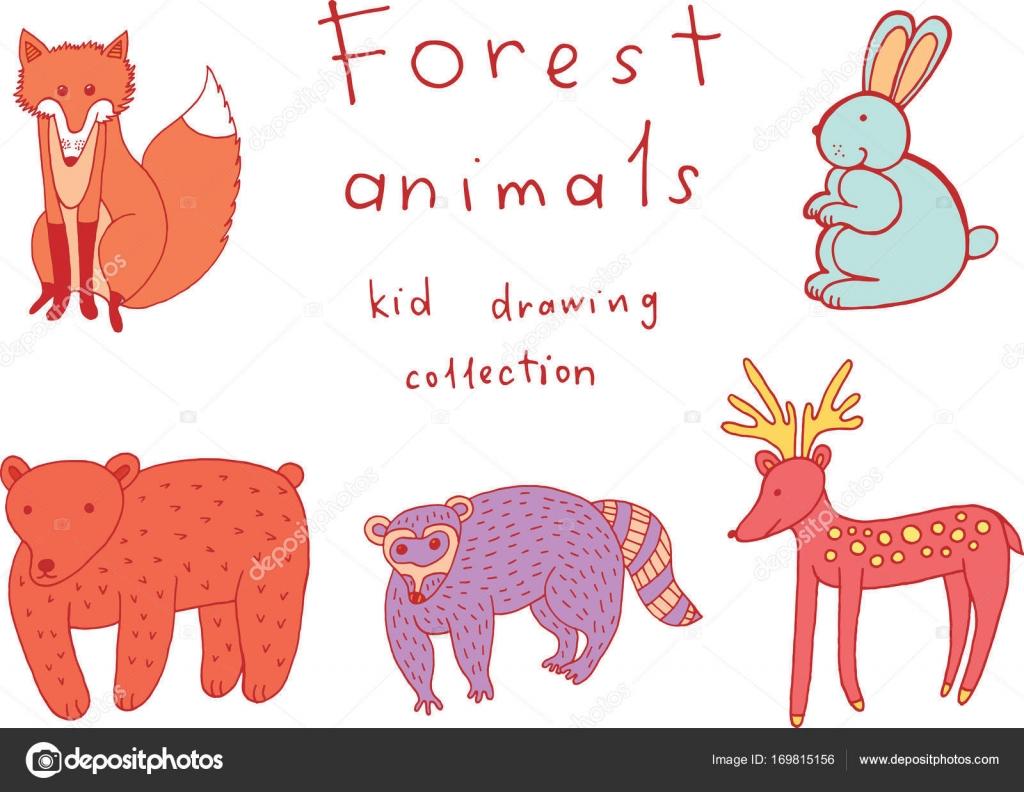 Disegno Degli Animali Dei Bambini Raccolta Di Divertenti Da