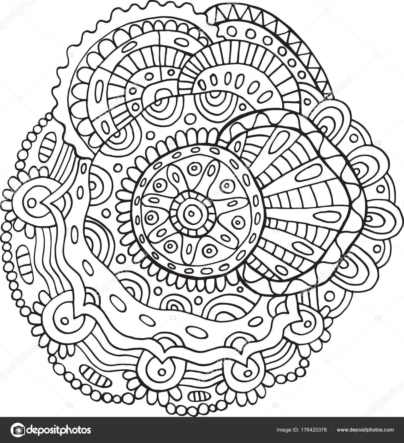 blume mandala  malvorlagen für erwachsene doodle vektor