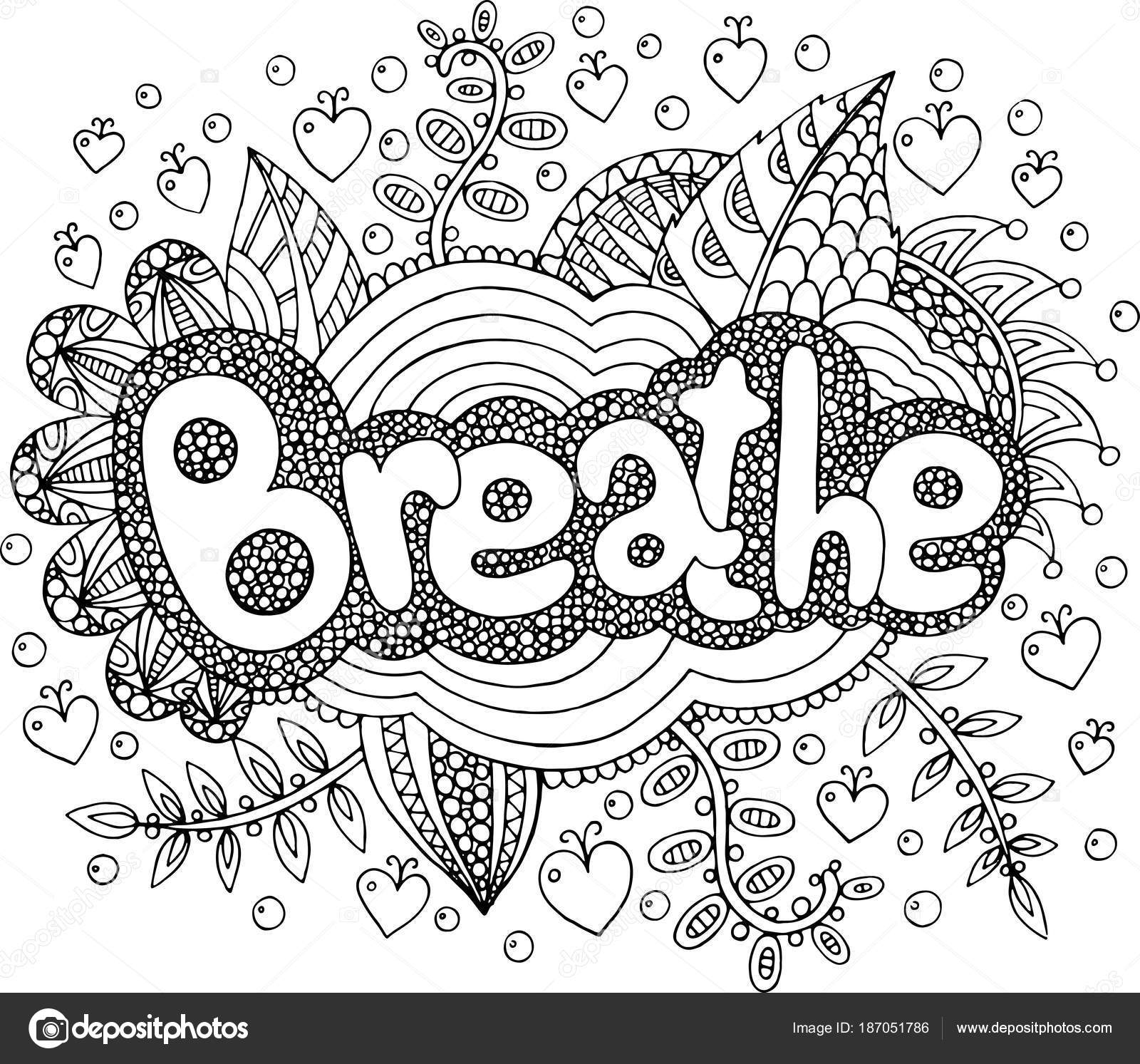 breathe coloring page coloring page for adults with