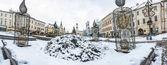 Fotografie Náměstí SNP v Banské Bystrici, zimní scény