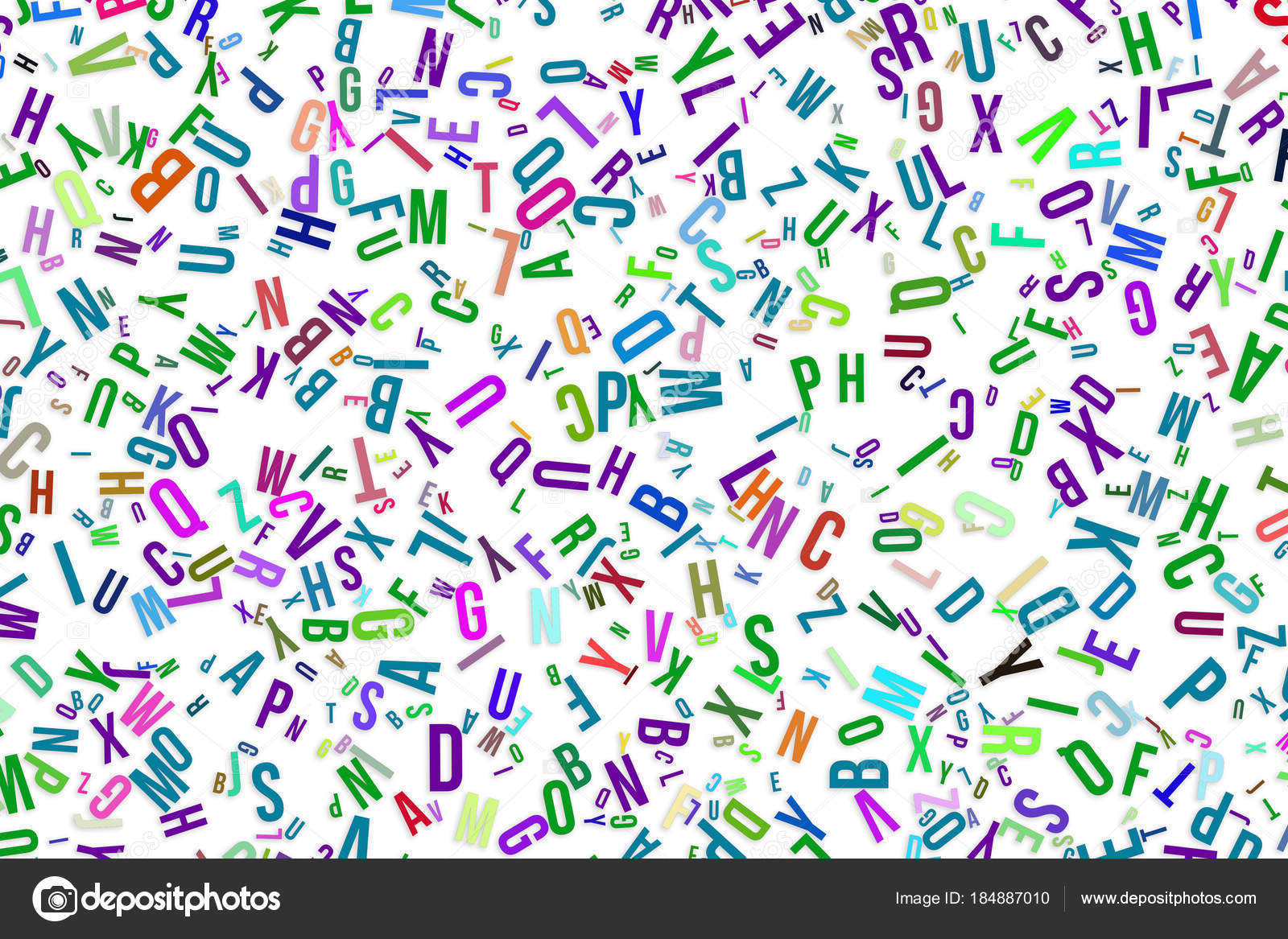 Alphabets Letters From A To Z Word Cloud Stock Photo